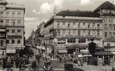 """Unter den Linden, Berlin 1930. By the end of the 1930s some of the benches had been painted yellow and beared the words """"For Jews Only""""."""