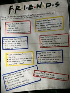 F.R.I.E.N.D.S! Friends TV Show Drinking Game! .....NEED A FRIEND TO DO THIS WITH! ....@Arielle Mahan  ....@Spenser Ashcraft