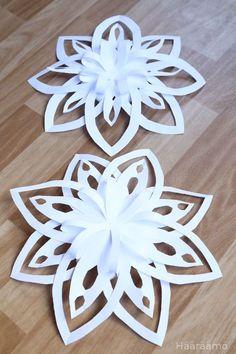 Ohje: Lumihiutale paperista 3D                                                                                                                                                                                 More