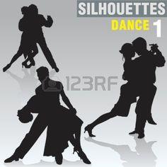 Silhouetten Dance 01 Royalty Vrije Cliparts, Vectoren, En Stock Illustratie. Pic 615657.