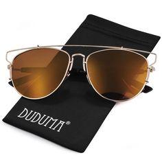 c40812fe967f Duduma Fashion Aviator Sunglasses with Full Metal Crossbar Frame for Women  and Men 8027