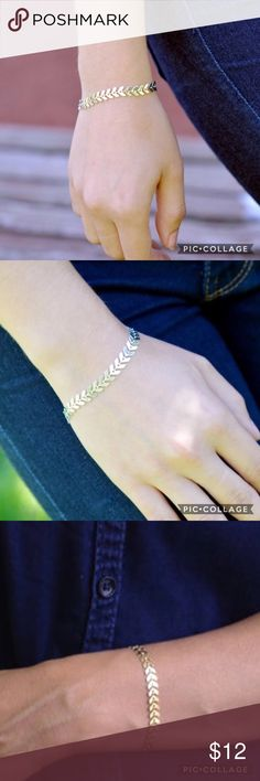 💠BOGO50% SALE!💠 NWT Chevron Bracelet Alloy metal, delicate chevron bracelet in Gold or Silver! See coordinating necklace for sale!                             💠ASK FOR A BOGO50% BUNDLE listing to be created for your selections to receive discount!                         💠BOGO 50% OFF! Buy 1 item and get 2nd item of equal or less price at 50% OFF !                                                     TAGS: Chevron bracelet, triangle bracelet, delicate bracelet Summer Paradise Jewelry…
