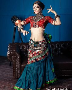 ATS, gypsy, boho, dance – All Dance Costumes Tribal Fusion, Tribal Mode, Tribal Style, Belly Dance Outfit, Belly Dance Costumes, Estilo Tribal, Tribal Costume, Belly Dancing Classes, Tribal Belly Dance