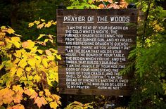 Prayer of the Woods - Honor the Earth - Protect our Mother Earth #IdleNoMore