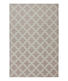 Another great find on #zulily! Taupe Quattrefoil Area Rug #zulilyfinds