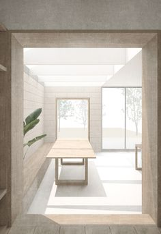 Private house, Peckham – via Al Jawad Pike, interior render/visualisation