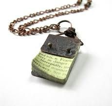 mini book jewelry - Google Search