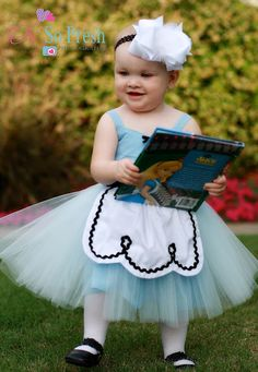 ALICE IN WONDERLAND dress baby 1st  birthday costume dress tutu dress for infant special occasion or portrait. $55.00, via Etsy.