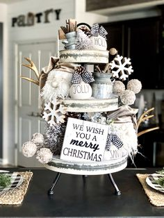 rae dunn, rae dunn display, rae dunn ideas, rae dunn tray, christmas decor, neutral christmas decor, neutral tiered tray, rae dunn tiered tray, gnomes, gnome tiered tray, christmas tiered tray #raedunn #hobbylobby #hobbylobbylife #homeinspiration #homestyling #homedecor #homeinterior #interiordetails #interiorinspiration #farmhouse #rusticmodern #rusticindustrial #homeinspo #modernfarmhouse #raedunnfinds #raedunnlove #raedunncollection #tieredtray Seasonal Decor, Fall Decor, Holiday Decor, Hobby Lobby, Serving Tray Decor, Kitchen Tray, Plaid Decor, Gnome, Neutral