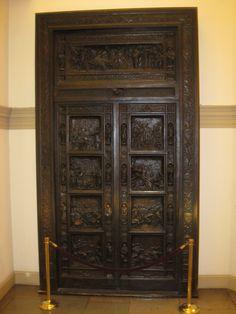 that's one important door...