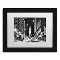 "Trademark Art ""City Hall Philadelphia"" by Philippe Hugonnard Framed Photographic Print Size: 1"