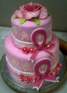 Breast Cancer Awareness Cake. I want one of these when I reach my 5 year survivor anniversary!!!
