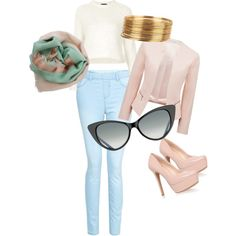 This is a casual but classy outfit for lunch out with your girlfriends on a coldish day. Lunch, Shoe Bag, Girls, Polyvore, Stuff To Buy, Shopping, Shoes, Design, Women