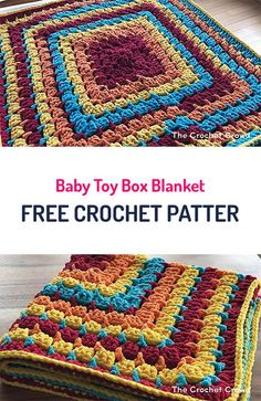 Baby Toy Box Blanket Free Crochet Pattern #crochet #yarn #crafts #home #homedecor #handmade #style