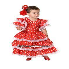 DisfracesMimo, disfraz flamenca niña,echate unos bailes bajo los farolillos de color en la feria de abril con este disfraz flamenca niña,con este hermoso modelo para las bailadoras sevillanas infantiles.En tus fiestas andaluzas y carnaval.