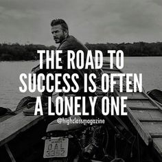 The road is lonely...