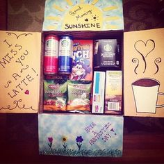 """"""""""" a simple morning carepackage for my boyfriend who is serving in the navy over seas. ❤️ I hope you can share to all of the lovely people out there…"""""""