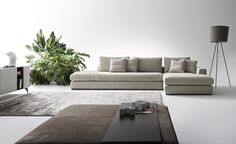 With its extremely versatile modularity, the sofa Bijoux by DiTre Italia offers a wide range of compositions to best fit the space of your living area. Sofa Design, Interior Design, Italian Leather Sofa, Modular Sofa, Modern Sofa, Decoration, Armchair, Couch, Living Room