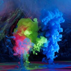 K photographer Mark Mawson continues his exploration of color, ink, and water with this killer new collection of photographs titled Aqueous Electro. The photographs are the fourth in a serious including Aqueous Fluoreau, Aqueous I, and Aqueous II.