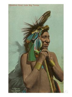 Blackfoot Chief, Luke Big Turnips. Artist and date unknown. Posters at AllPosters.com