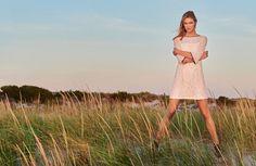 Karlie Kloss models shift dress for Marella spring summer 2016 campaign