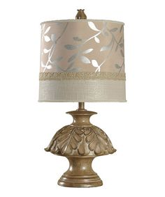 Another+great+find+on+#zulily!+Foil+Leaf-Accent+Table+Lamp+#zulilyfinds