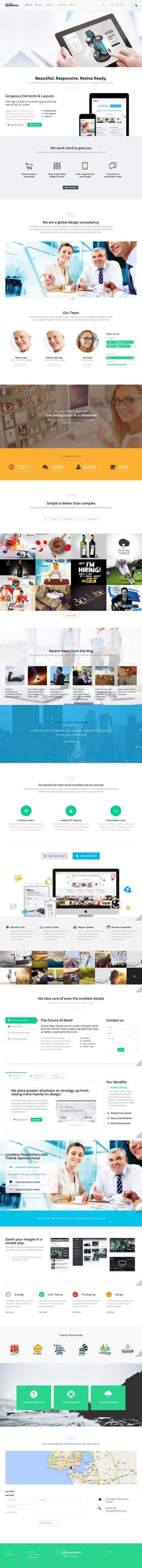 Welkome — One Page Multi-Purpose Theme #responsivewordpressthemes #flatdesign #premiumwpthemes #templates