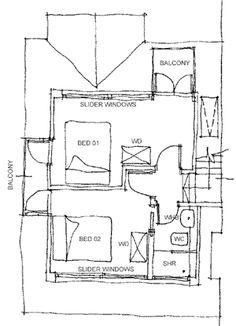 Sketch plan of the loft attic space.