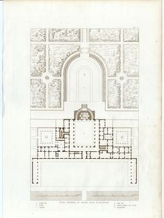 GENERAL PLAN OF PITTI PALACE,FLORENCE,Italy,1874