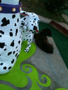 Dogs, Peter Pan Mini Golf, Austin TX...sculptor: Cheryl D Latimer
