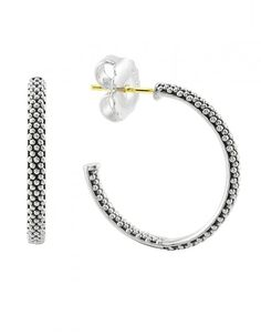 For every day wear these signature hoops are ideal. LAGOS Jewelry | Signature Caviar.