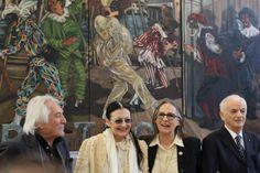 Carla Fracci, Dolores Puthod, Enrico Intra,  e Ferruccio Soleri presso Reggia di Monza.