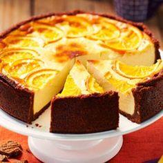 Speculaas-cheesecake met sinaasappel. Nagerecht, 4 personen