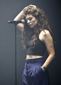 Lorde performing at Osheaga Festival