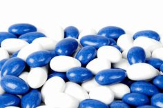 Blue and White Jordan Almonds 4.89/lb