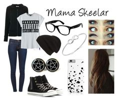 """""""The Quad: Mama Skeelar (Me)"""" by skyswetay-2000 ❤ liked on Polyvore featuring Tomas Maier, Frame Denim, Converse, Phase 3, Ray-Ban, women's clothing, women's fashion, women, female and woman"""