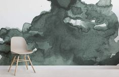 Add a bespoke feel to your space with a creative style, with this green watercolour wallpaper, an abstract mural. Buy now with fast & FREE UK delivery! Watercolor Clouds, Green Watercolor, Abstract Watercolor, Drawing Wallpaper, Watercolor Wallpaper, Dining Room Wallpaper, Wall Wallpaper, Office Wallpaper, Green Wallpaper