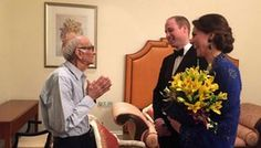 Cute Overload - Prepare to sob: When Kate and Will heard that 93-year-old Boman Kohinoor, owner of Mumbai's Britannia & Co. restaurant and a passionate Anglophile, was excited about the royal visit, they invited him to their hotel for a chat before hitting the red carpet. We are not worthy . . .
