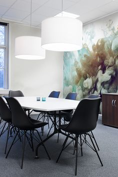 A cognac colored smoke is created in the meeting of the tur Photo Mural, Office Meeting, Colored Smoke, Inspirational Wallpapers, Cool Office, Decoration, Wall Murals, Dining Chairs, In This Moment