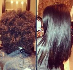 straightened natural hair www.thebrowntruth.wordpress.com