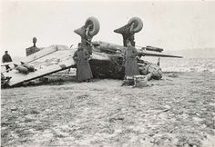 "Battle in the air WW2. Badly landed. German plane ""Stuck"""
