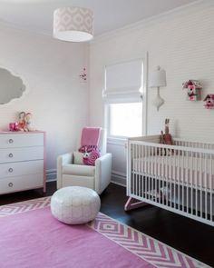 Incredibly Modern Pink Baby Girl Nursery Design Inspiration