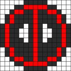 Dead Pool Perler Bead Pattern / Bead Sprite