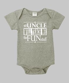 This Heather Gray 'My Uncle' Bodysuit - Infant by Small Plum is perfect! #zulilyfinds this is for uncle Darik