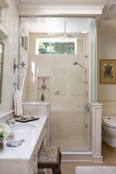 Small Master Bath in Chevy Chase - traditional - bathroom - dc metro - Anthony Wilder Design/Build, Inc.