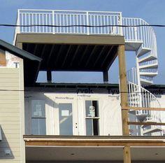 Flat roof w deck garages danleys garage world garden for Flat roof garage with deck plans