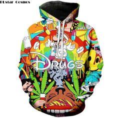 PLstar Cosmos 2018 Autumn New Fashion 3d Hoodies Cartoon Super Mario 3D  print Hooded Sweatshirt Funny drugs casual Pullovers 467540ef058