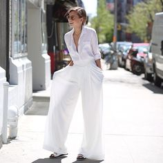 white wide-leg pants // weworewhat