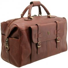 Tumble & Hide Leather Overnight Holdall Bag - £250.00 available from www.kubi.co.uk - The perfect overnighter or overnight leather holdall