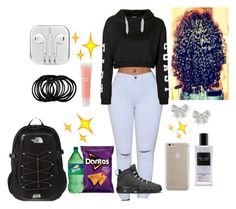 """""""School tuesday"""" by curlss-wavyy-sexy on Polyvore featuring Topshop, Case-Mate, Victoria's Secret, Lancôme, The North Face, women's clothing, women, female, woman and misses"""